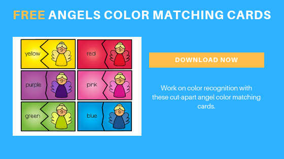 image about Angels Printable Schedule identified as Angels Colour Matching Playing cards - Totally free Printable