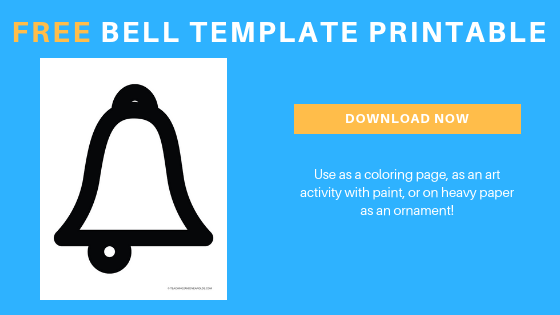 free christmas bell template printable