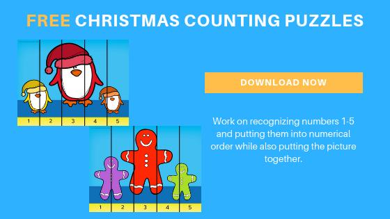 free toddler preschool Christmas printables