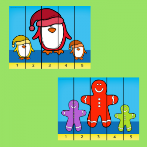 Free Christmas Counting Printable Puzzles