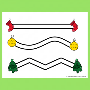 Free Christmas Objects Left-to-Right Fine Motor Printables