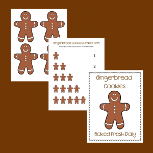 Free Gingerbread Cookies Dramatic Play Printables