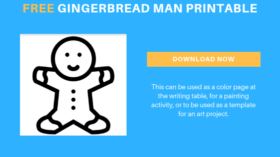 free gingerbread man printable