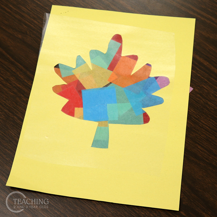 How to Make a Colorful Fall Leaf Suncatcher with Toddlers