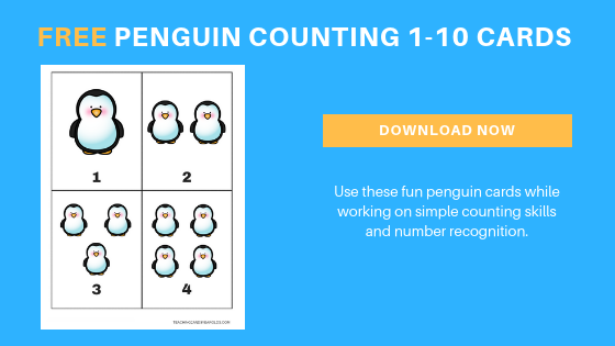 free penguin counting printables for toddlers and preschoolers