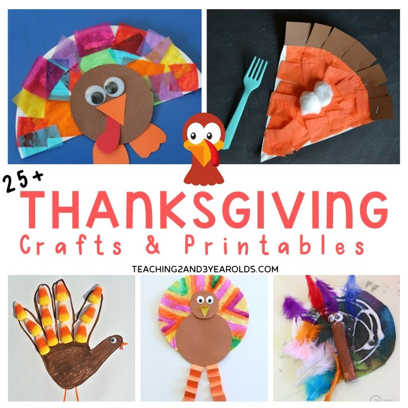 25+ Thanksgiving Craft Ideas for Preschoolers
