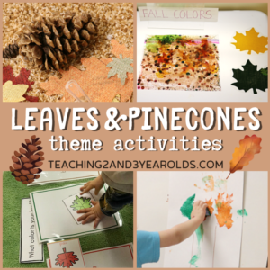 Leaves and Pinecones Theme Activities for Toddlers and Preschoolers