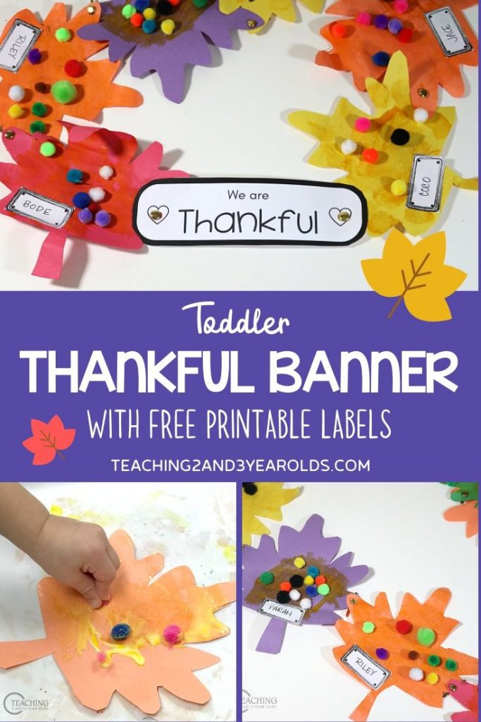Easy Toddler Thanksgiving Activity {that Teaches Thankfulness)