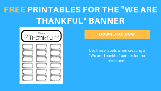 Free Thanksgiving Thankful Printable