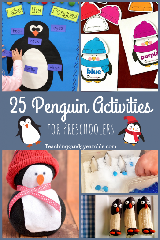 This collection of 25 penguin activities is full of useful ideas for your winter time themes. Includes free penguin printables!