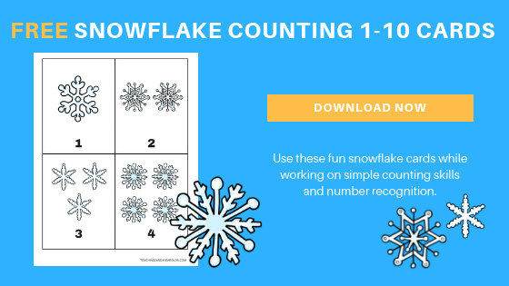 free preschool snowflake counting printable