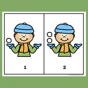 Free Snowball Counting 1-10 Printable Cards