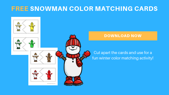 Free Snowman Color Matching Cards