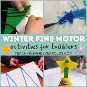 Toddler Winter Activities that Build Fine Motor Skills