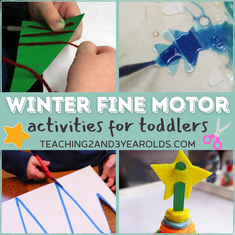 Toddler Winter Activities that Build Fine Motor Skills