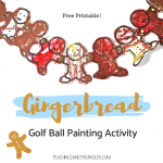 How to Create Easy Gingerbread Art Using Golf Balls and Paint