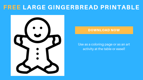 free toddler preschool gingerbread color sheet printable