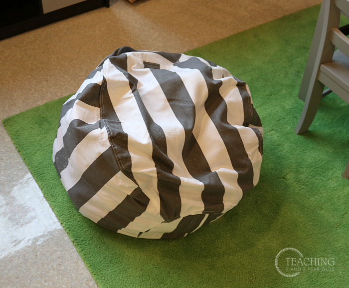 Stuff 'n Sit Stuffed Animal Storage Bean Bag PoufStuff 'n Sit Stuffed Animal Storage Bean Bag Pouf