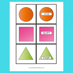 Free Shape Matching Printables for Toddlers and Preschoolers