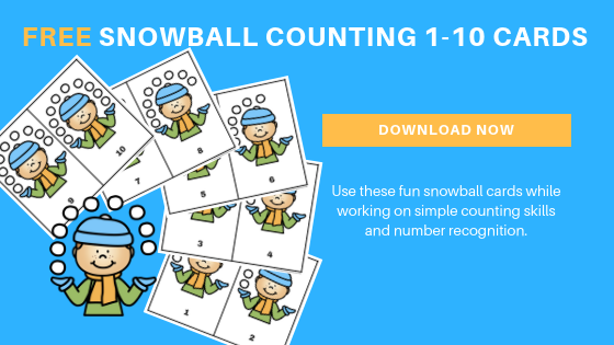 Free Snowball Counting Cards Printable 1-10