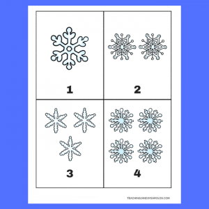 Free 1-10 Snowflake Counting Cards Printable