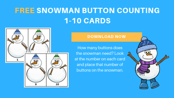 free preschool snowman counting activity printable
