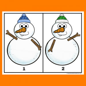 Free Snowman Button Counting 1-10 Activity Printables