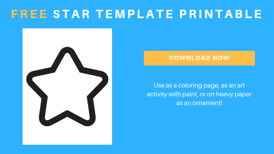Free star printable template