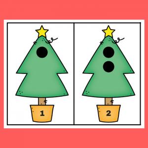 free Christmas tree math printable