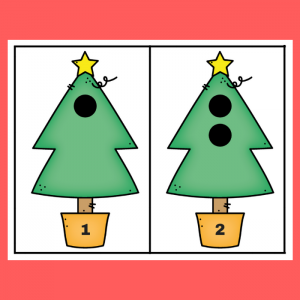 Christmas Tree 1-6 Counting Activity Printable