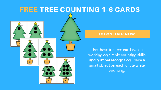free Christmas tree math printable