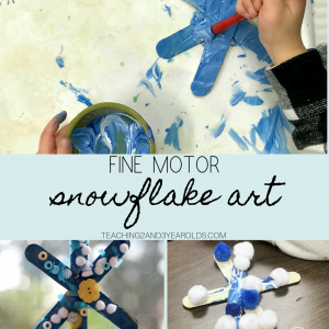 Fine Motor Snowflake Art for Preschoolers