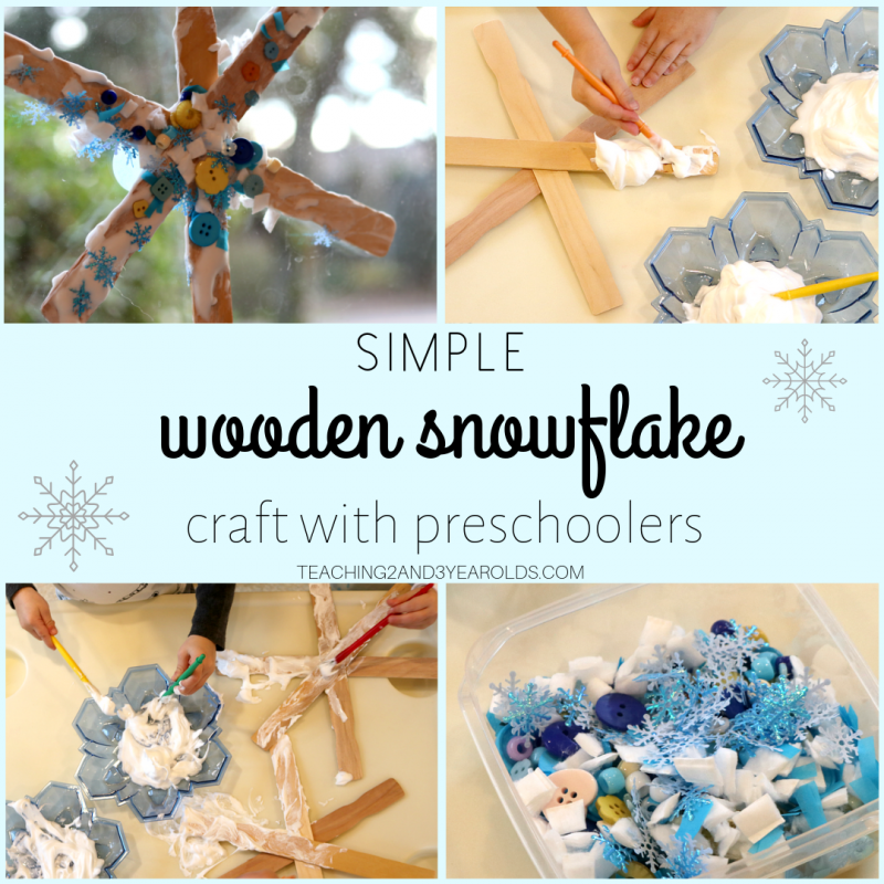 How to Make a Simple Wooden Snowflake Craft with Preschoolers