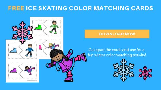 Free Ice Skating Color Matching Printables