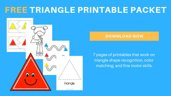 Free Toddler Preschool Triangle Printable Packet