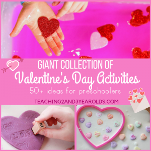 These 50+ Preschool Valentine's Day Activities are sure to add some heart-shaped fun to your preschool classroom. Includes ideas for all categories of learning!