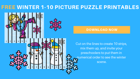 Free Preschool Winter Counting Printable