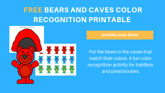 Free Bear Color Matching Printable