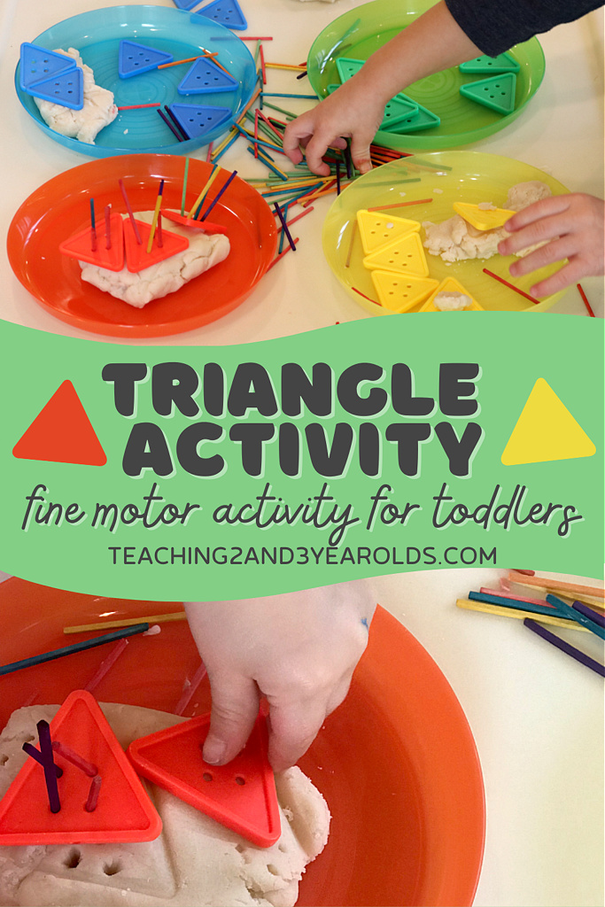 toddler triangle shapes activity