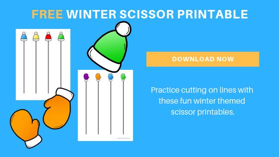 free preschool winter scissor printable