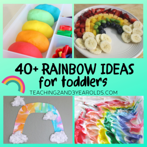 40+ Amazing Toddler Rainbow Activities