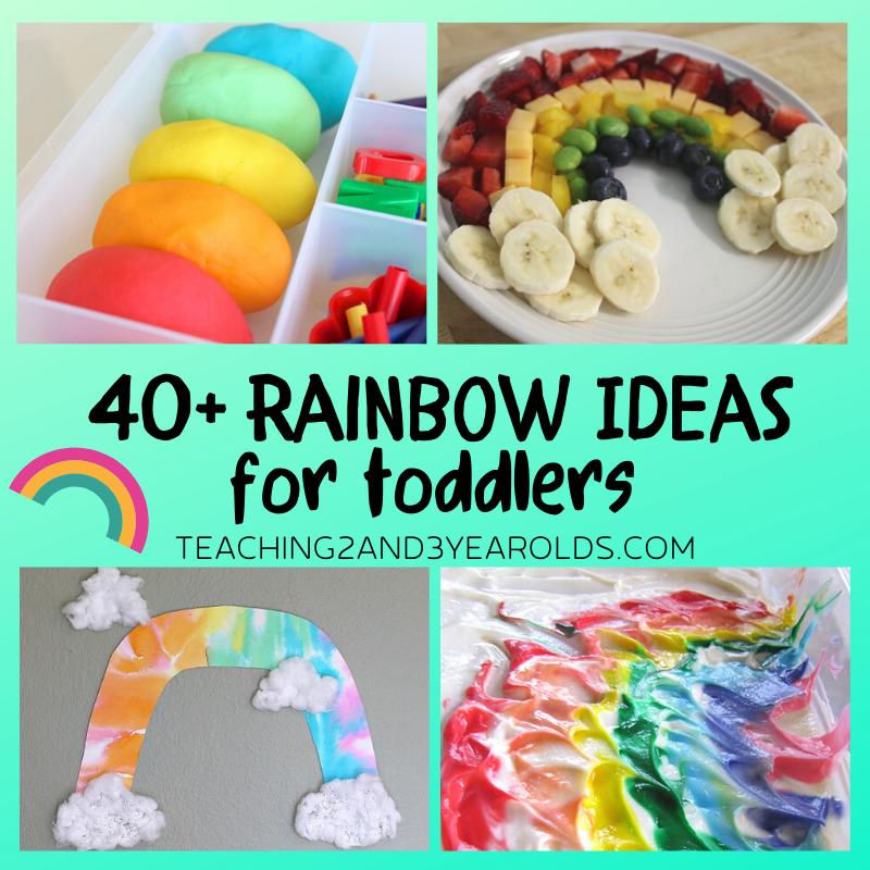 40+ Amazing Toddler Rainbow Activities