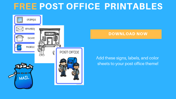 Free Toddler Preschool Post Office Printables