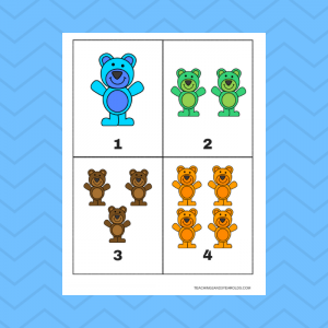 Free 1-10 Bear Counting Cards Printable