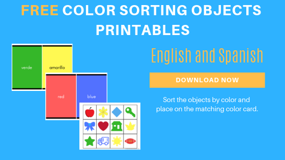Free English Spanish Color Sorting Printables