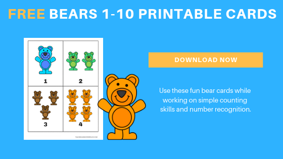free bear counting printables for toddlers and preschoolers