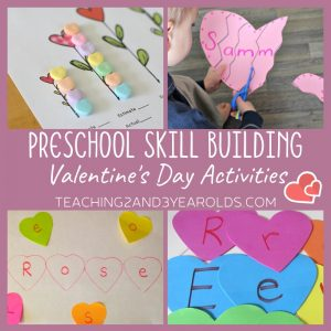 17 Skill Building Preschool Valentine's Activities