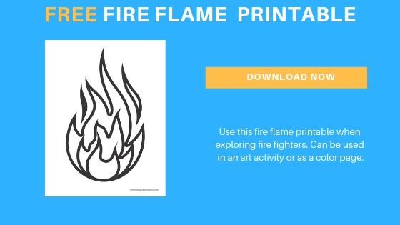 free toddler preschool printable for the fire fighter theme