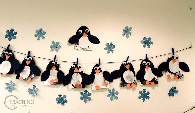 Marble-Painted Penguin Craft for Preschoolers