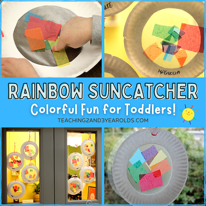 simple toddler rainbow art